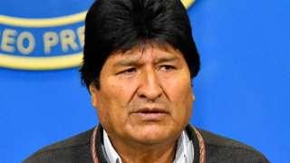 Evo Morales on 10 November 2019