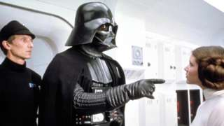 Dave Prowse as Darth Vader in Star Wars