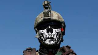 An Afghan Special Forces member attends his graduation ceremony in Kabul, Afghanistan, 17 June
