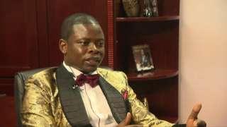 Pastor Shepherd Bushiri speaking to the BBC