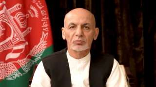 Ousted Afghan President Ashraf Ghani