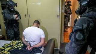 Australya'da gözaltına alınan bir kişi