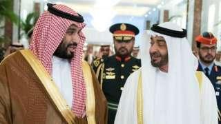 Mianya imeanza kujitoleza katika ya wanawafalme wa Saudia na UAE
