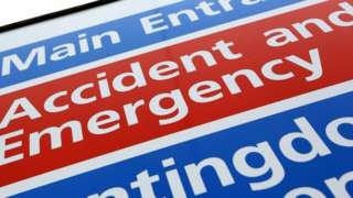 A&E sign outside hospital