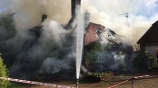 The Common, Damerham thatch fire