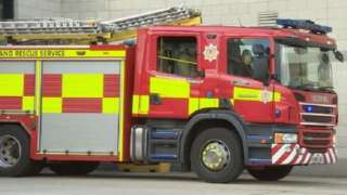 An appliance at Central community fire station was not in use on Tuesday
