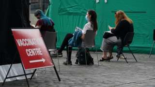 Vaccination centre in Edinburgh in early July
