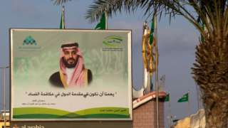 Billboard with picture of Mohammed Bin Salman in Jizan, Saudi Arabia (file photo)
