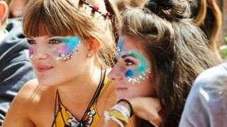 Festival goers