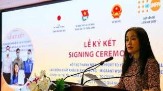 Bà Naomi Kitahara, Trưởng Đại diện Quỹ Dân số Liên Hợp Quốc tại Việt Nam tại lễ ký