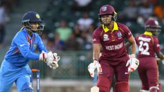 India's Tanya Bhatia and West Indies' Chedean Nation