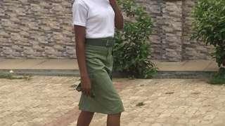Female corps member wey wia skirt.