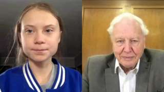 Greta Thunberg and David Attenborough
