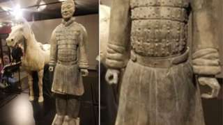 A Terracotta warrior missing a digit