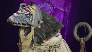 One of the vulture-like Skeksis from the new Dark Crystal series
