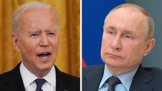 Joe Biden (L) and Vladimir Putin (composite image)