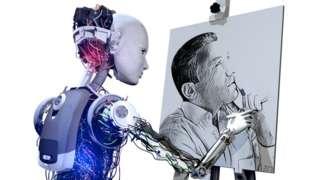 Robot pintando