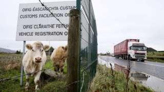 Irish customs sign