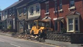 Excavator damage at Wroughton