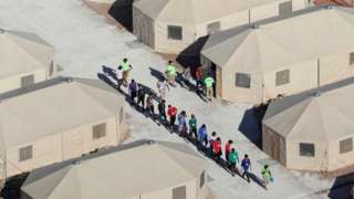 Separated children at a camp in Tornillo, Texas