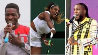 Bobi Wine, Serena Williams and Burna Boy