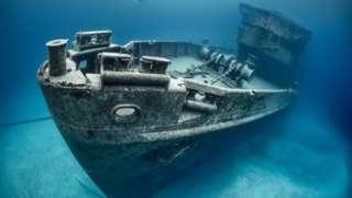 shipwreck with golg san jose ship representative photo