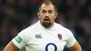 Ben Moon playing for England