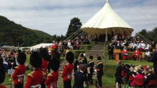 Tynwald Hill during the ceremony