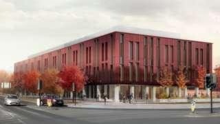 Northern School of Art view from Newport Road, Hartington Road Junction