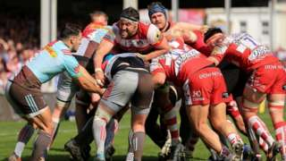 The packs dominated in Gloucester's home game against Harlquins