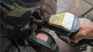 Filling a diesel car
