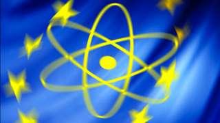 Nuclear symbol on EU flag