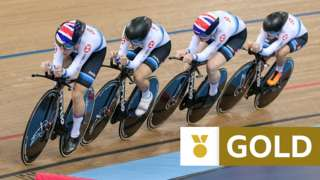 Laura Kenny, Katie Archibald, Neah Evans and Ellie Dickinson