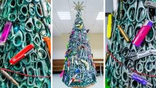 Vilnius Airport's Christmas tree