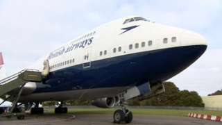 British Airways 747 plane