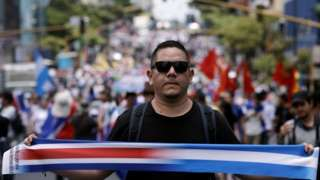 Costa Ricans marching in solidarity with Nicaraguan refugees (25/08/18)