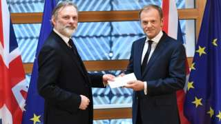 Article 50 letter being handed over