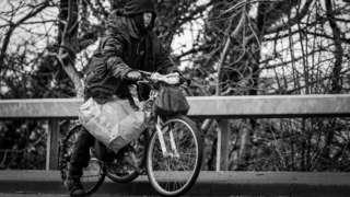 Henry Edwards on his bike