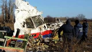 Debris from MH17 in Ukraine
