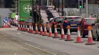 Manchester roadworks