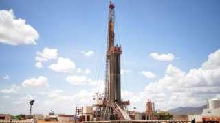 Un bloc de forage pétrolier géré par la société britannique Tullow Oil dans le bassin de Lokichar, dans le comté de Turkana, dans le nord du Kenya.