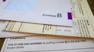 Polling card and envelope.