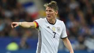 Manchester United and Germany midfielder Bastian Schweinsteiger