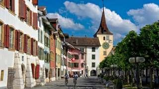 Una calle de Suiza