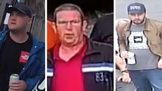 Three men wanted by police