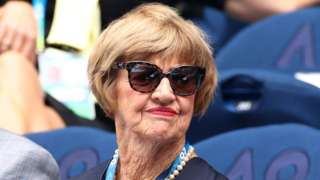 Margaret Court, pictured watching the Australian Open on 26 January 2020