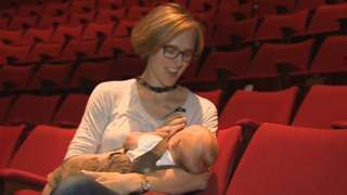 Tamara Harvey with her baby