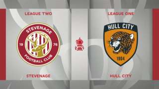 Stevenage v Hull City badge graphic