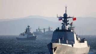 """中俄""""海上聯合-2021""""軍演後,首次聯合編隊通過津輕海峽"""