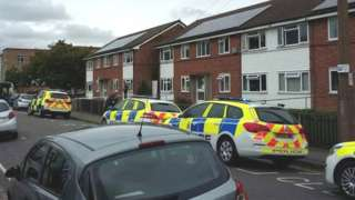 Police at West Park Court, Long Eaton